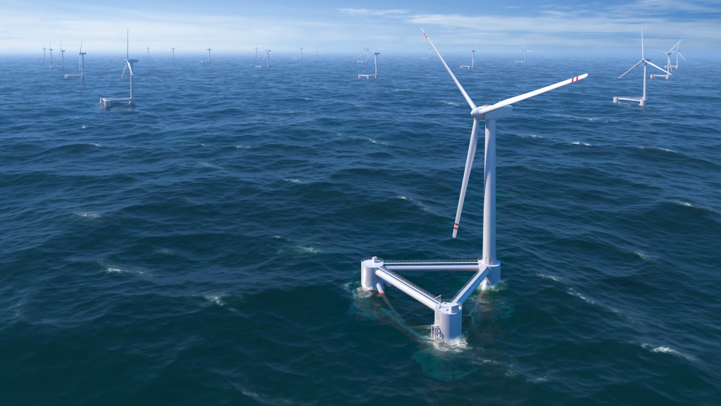 Offshore windpower plant